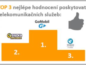 TOP 3 nejlépe hodnocení poskytovatelé telekomunikačních služeb